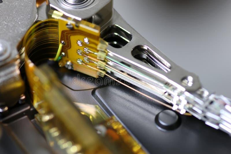 Μακροεντολή επισκευής σκληρών δίσκων στοκ εικόνα με δικαίωμα ελεύθερης χρήσης
