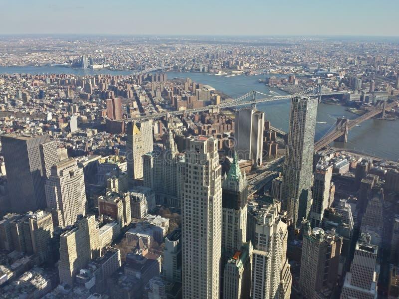 Μακροχρόνια άποψη από το Πύργο της Ελευθερίας στοκ φωτογραφίες