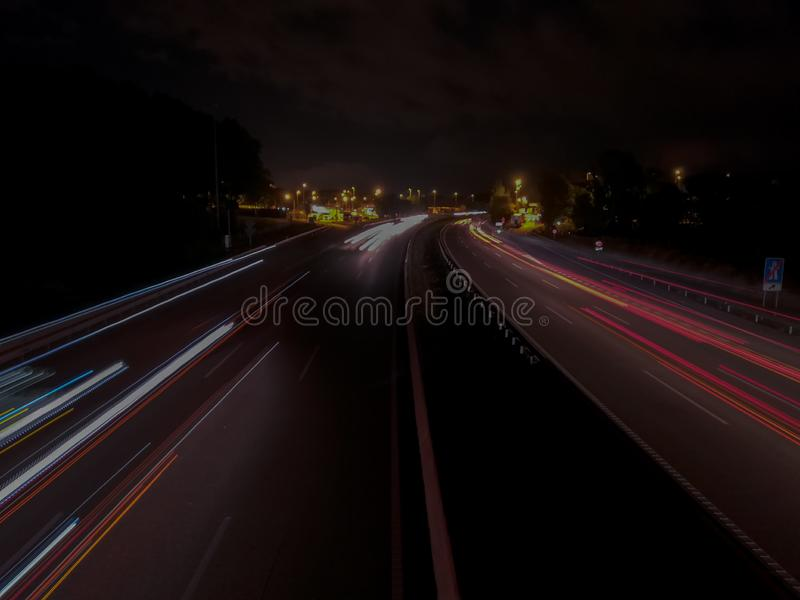 Μακροχρόνια έκθεση στην εθνική οδό στοκ φωτογραφίες με δικαίωμα ελεύθερης χρήσης