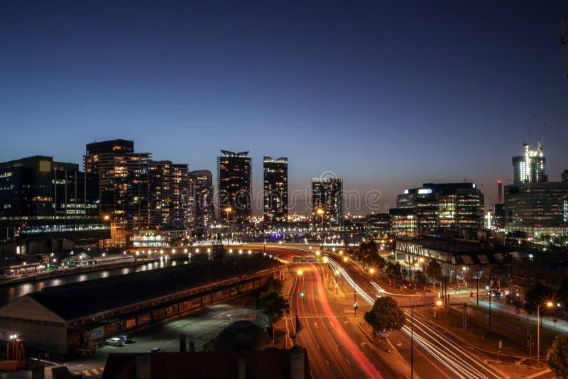 Μακροχρόνια έκθεση Docklands στοκ εικόνα με δικαίωμα ελεύθερης χρήσης