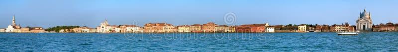 Μακροχρόνια πανοραμική εικόνα του νησιού Guidecca στη Βενετία στοκ εικόνες