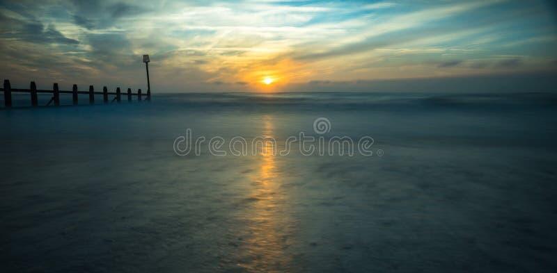 Μακροχρόνιο έκθεση ή seascape στοκ φωτογραφία