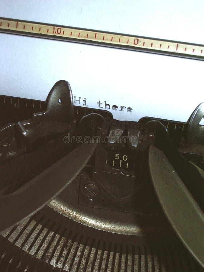 μακρο γραφομηχανή Στοκ φωτογραφία με δικαίωμα ελεύθερης χρήσης