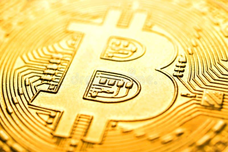 Μακρο εικόνα Bitcoin για το υπόβαθρο, περίληψη στοκ εικόνα με δικαίωμα ελεύθερης χρήσης