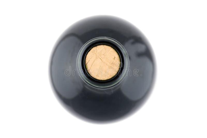 μακρο κόκκινο κρασί μπουκαλιών στοκ φωτογραφίες