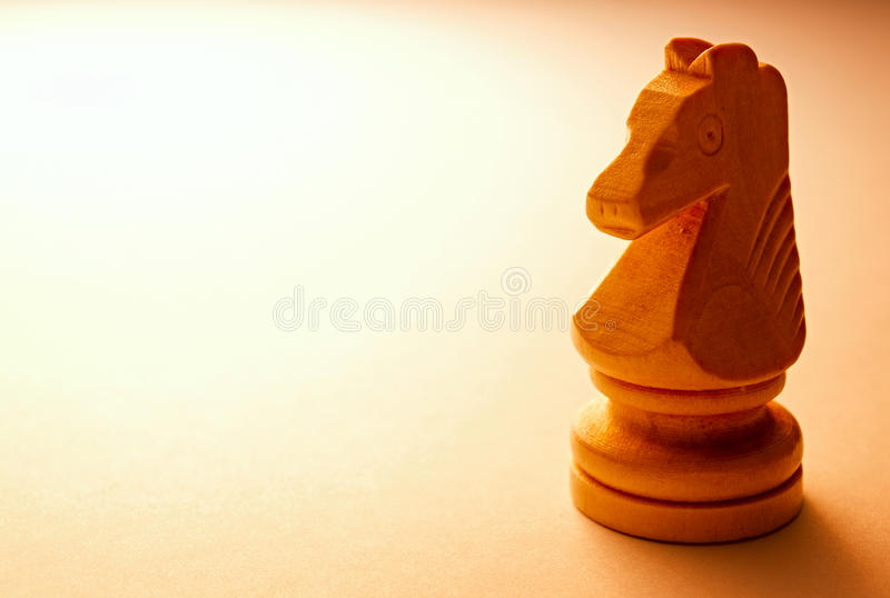 Μακρο ξύλινο κομμάτι σκακιού αλόγων στοκ φωτογραφία με δικαίωμα ελεύθερης χρήσης