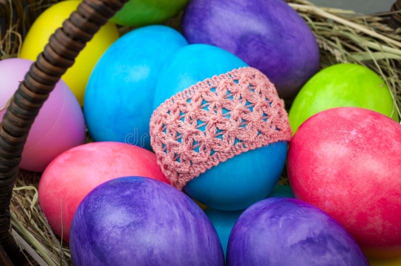 Μακρο ομάδα αυγών Πάσχας στοκ φωτογραφία