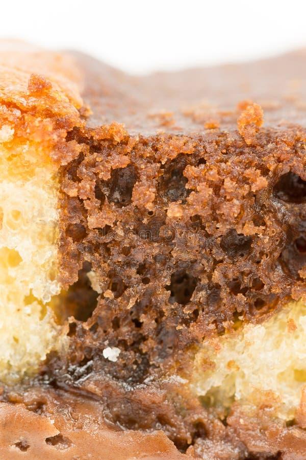 Μακρο ταπετσαρία κτυπήματος κέικ σοκολάτας στοκ φωτογραφία