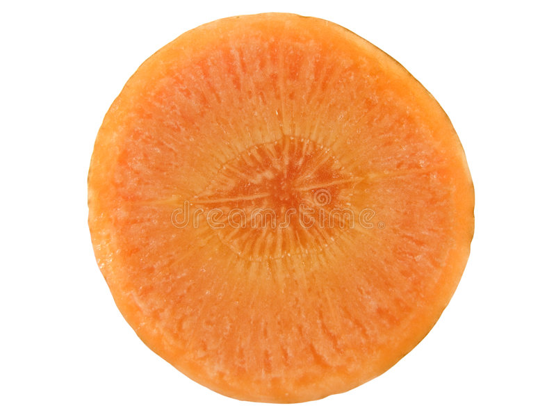 μακρο φέτα καρότων στοκ εικόνες