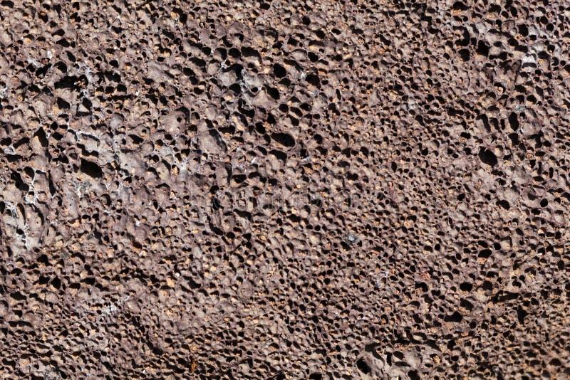 Μακρο φωτογραφία της λάβας με τις φυσαλίδες αερίου στοκ φωτογραφία