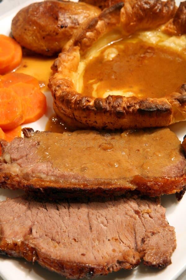 μακρο roast Γιορκσάιρ πουτίγ&k στοκ φωτογραφίες με δικαίωμα ελεύθερης χρήσης