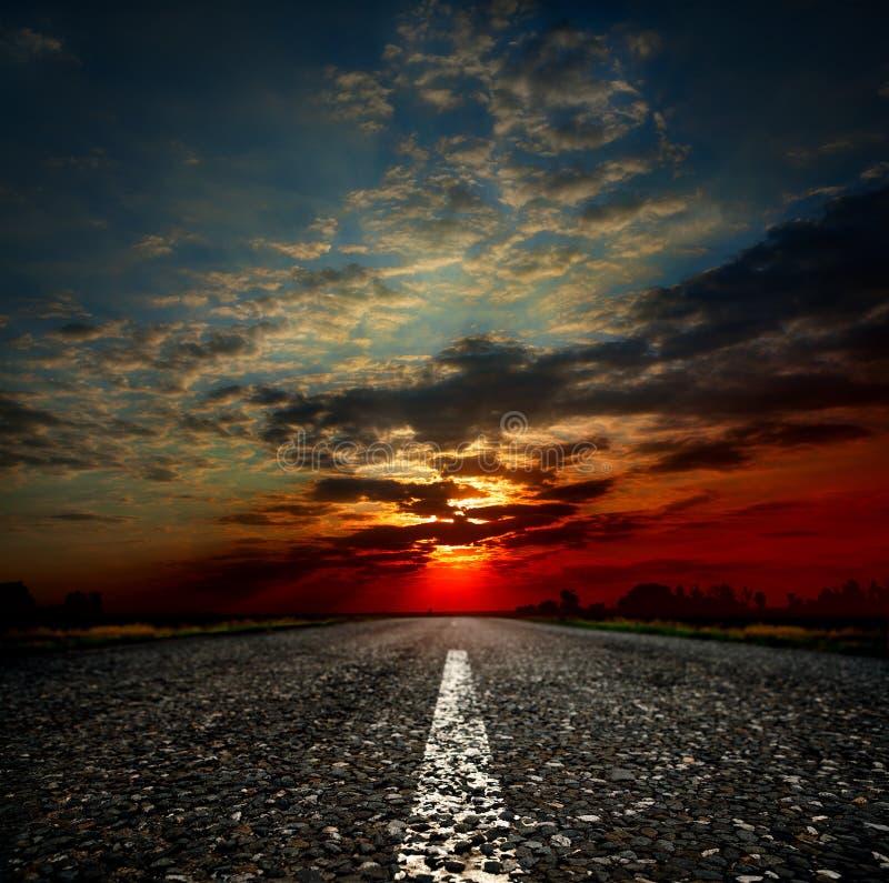 μακρύς δρόμος χωρών στοκ φωτογραφία με δικαίωμα ελεύθερης χρήσης