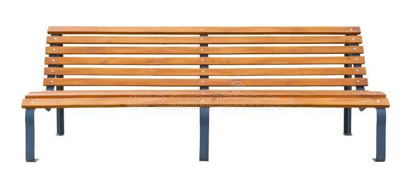 Μακρύς ξύλινος πάγκος που απομονώνεται σε ένα λευκό στοκ εικόνα με δικαίωμα ελεύθερης χρήσης