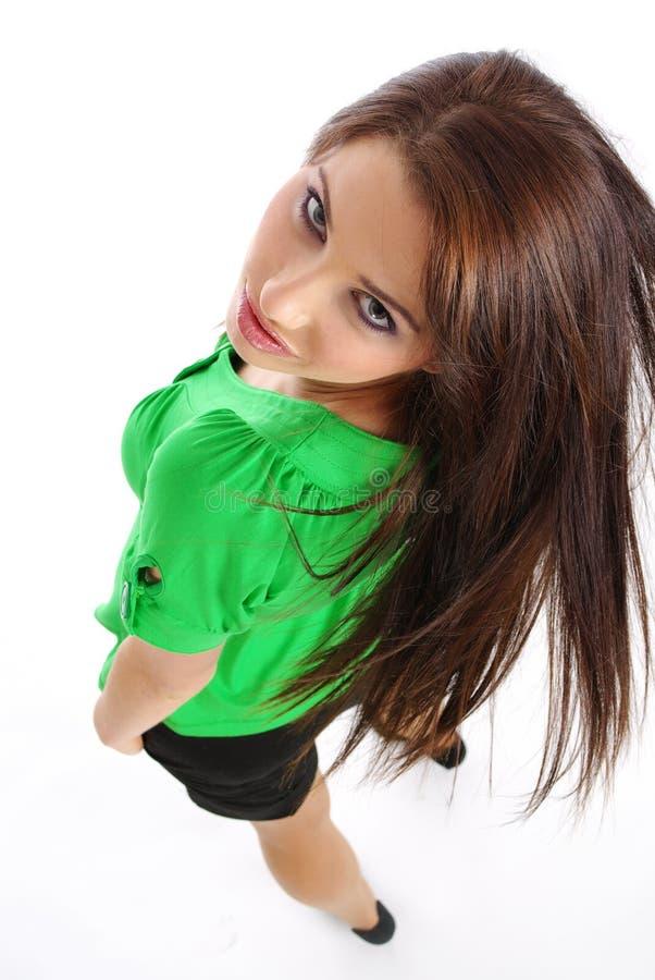 μακρύς προκλητικός τριχώματος κοριτσιών στοκ εικόνες με δικαίωμα ελεύθερης χρήσης