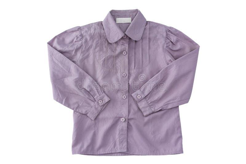 Μακρύ sleeved πουκάμισο μωρών στο άσπρο υπόβαθρο στοκ φωτογραφία με δικαίωμα ελεύθερης χρήσης