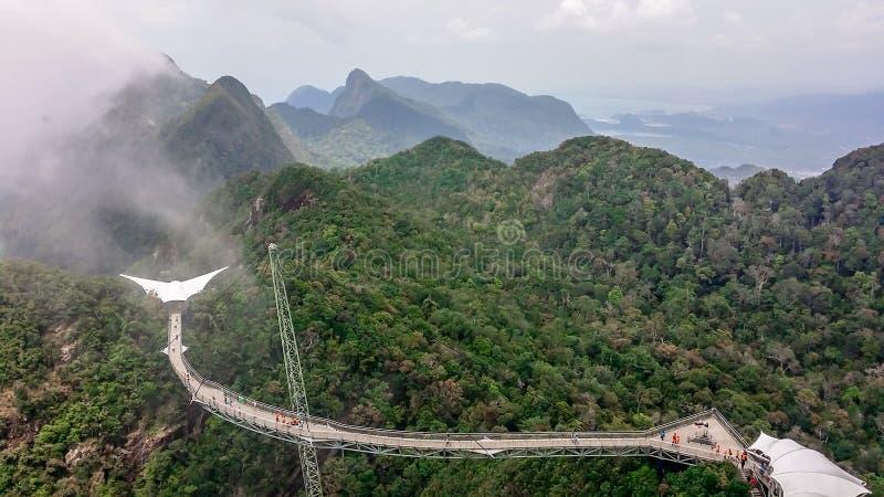 Μαλαισία - γέφυρα αναστολής στα βουνά στοκ φωτογραφία με δικαίωμα ελεύθερης χρήσης