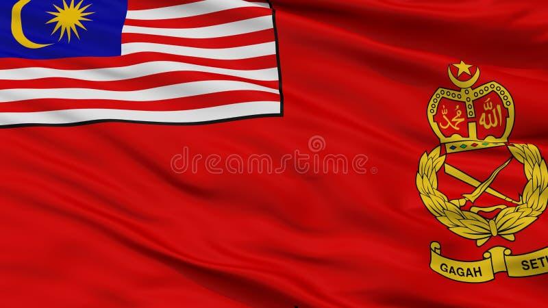 Μαλαισιανή άποψη κινηματογραφήσεων σε πρώτο πλάνο σημαιών στρατού απεικόνιση αποθεμάτων