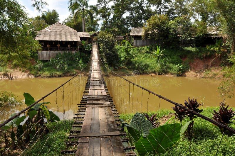 Μαλαισιανή κρεμώντας γέφυρα στοκ εικόνα με δικαίωμα ελεύθερης χρήσης