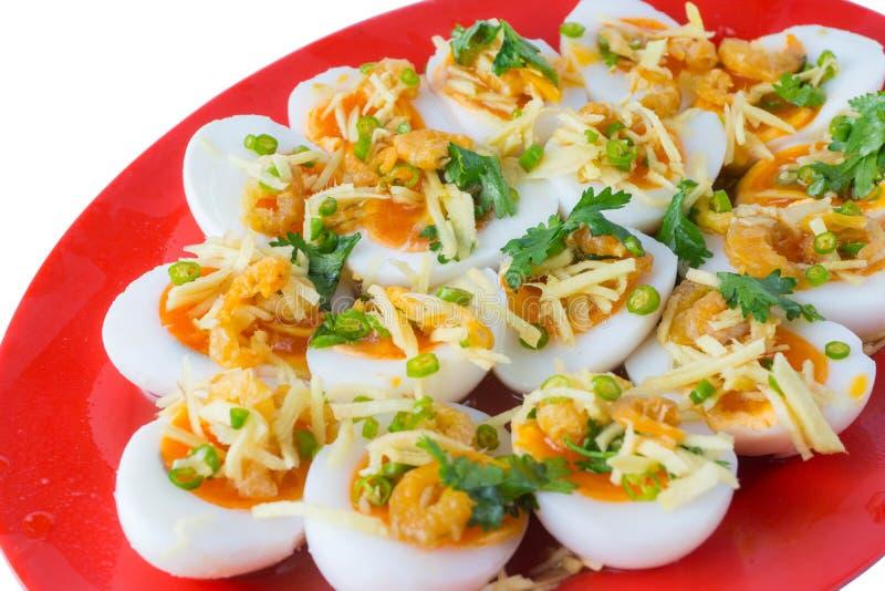 Μαλακή βρασμένη πικάντικη σαλάτα αυγών στοκ φωτογραφία