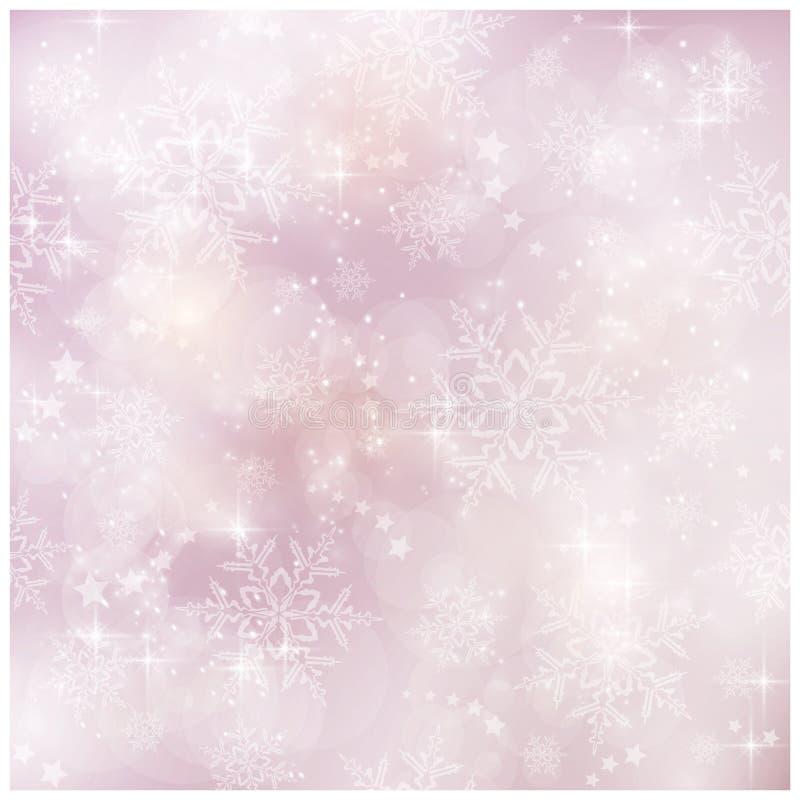 Μαλακός και μουτζουρωμένος χειμώνας, πρότυπο Χριστουγέννων διανυσματική απεικόνιση