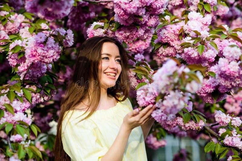 Μαλακός και τρυφερός r Η γυναίκα ανθίζει την άνοιξη την άνθιση Φυσικά καλλυντικά για το δέρμα floral στοκ εικόνα
