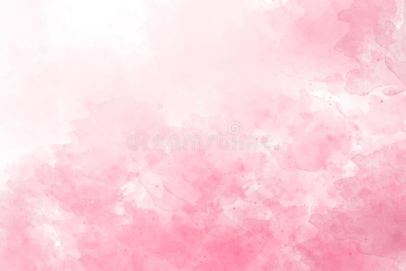 Μαλακός ρόδινος παφλασμός watercolor αφηρημένη κατασκευασμένη κλίση στο άσπρο υπόβαθρο ελεύθερη απεικόνιση δικαιώματος