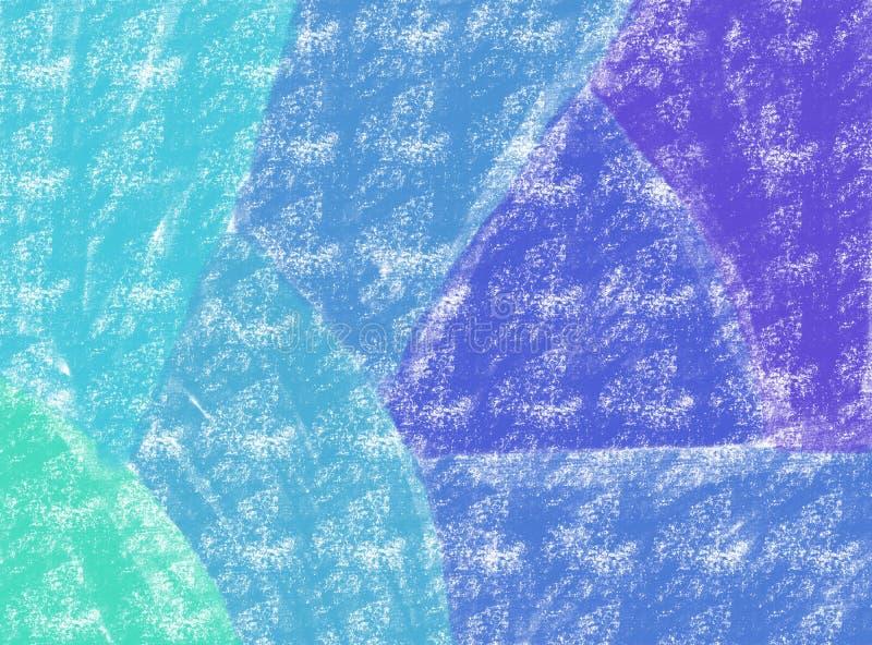 Μαλακός-χρώματος εκλεκτής ποιότητας υπόβαθρο watercolor κρητιδογραφιών αφηρημένο με τις χρωματισμένες σκιές του πράσινου, μπλε, π διανυσματική απεικόνιση