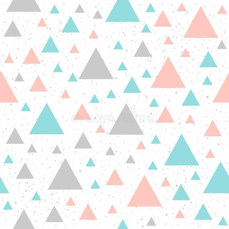 Μαλακό άνευ ραφής υπόβαθρο τριγώνων κρητιδογραφιών διανυσματική απεικόνιση
