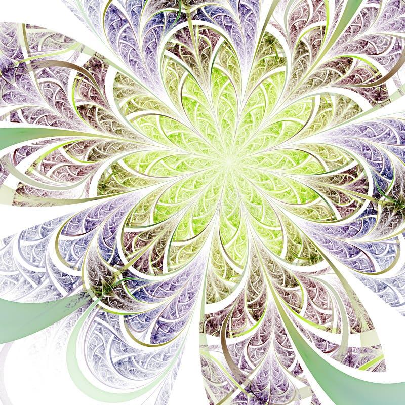 Μαλακό fractal λουλούδι διανυσματική απεικόνιση