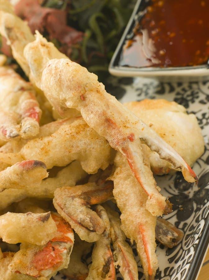 μαλακό tempura κοχυλιών SE σάλτσας καβουριών τσίλι στοκ εικόνα με δικαίωμα ελεύθερης χρήσης