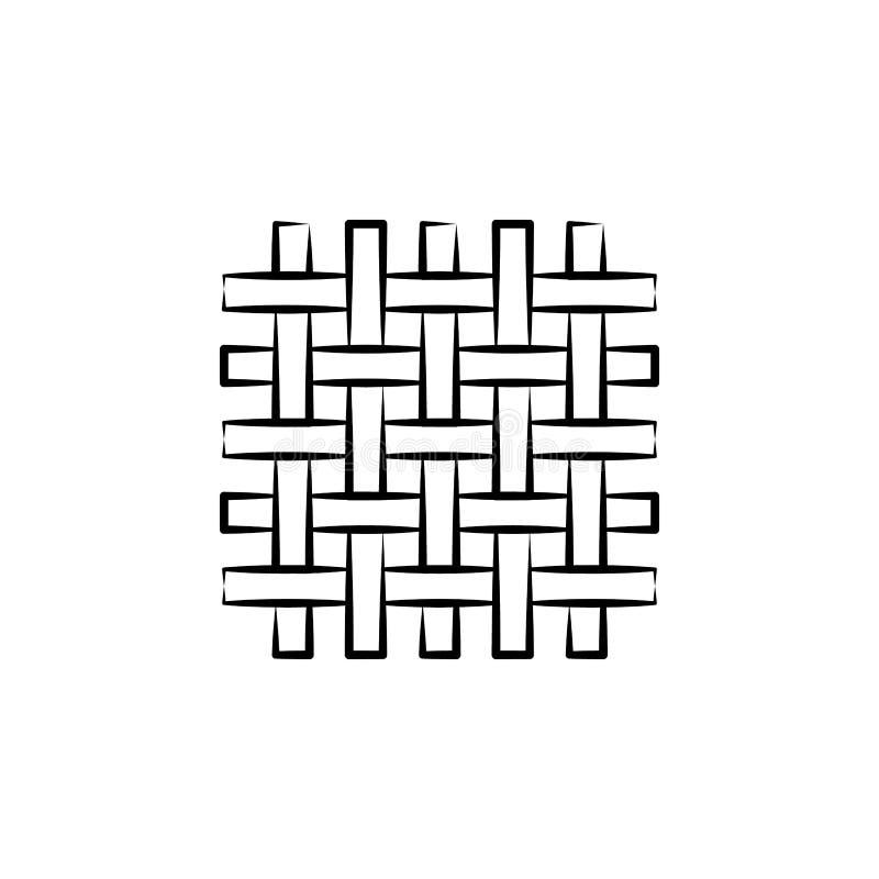 Μαλλί, εικονίδιο ύφανσης Στοιχείο του εικονιδίου τέχνης και τεχνών Λεπτό εικονίδιο γραμμών για το σχέδιο ιστοχώρου και την ανάπτυ διανυσματική απεικόνιση