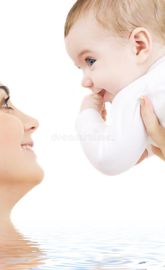 μαμά μωρών στοκ εικόνες με δικαίωμα ελεύθερης χρήσης