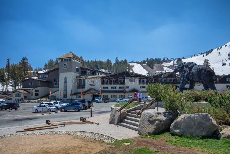 Μαμμούθ περιοχή σκι βουνών στοκ φωτογραφία με δικαίωμα ελεύθερης χρήσης