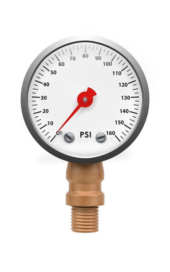 Μανόμετρο δύο πίεσης διανυσματική απεικόνιση