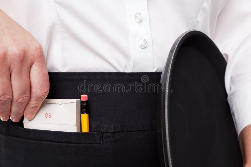 Μαξιλάρι κατάταξης σερβιτορών στοκ εικόνα με δικαίωμα ελεύθερης χρήσης