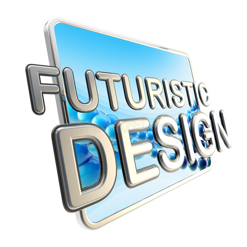 Μαξιλάρι υπολογιστών οθόνης ως φουτουριστικό σχέδιο διανυσματική απεικόνιση
