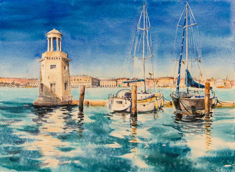 Μαρίνα, Βενετία, Ιταλία απεικόνιση αποθεμάτων