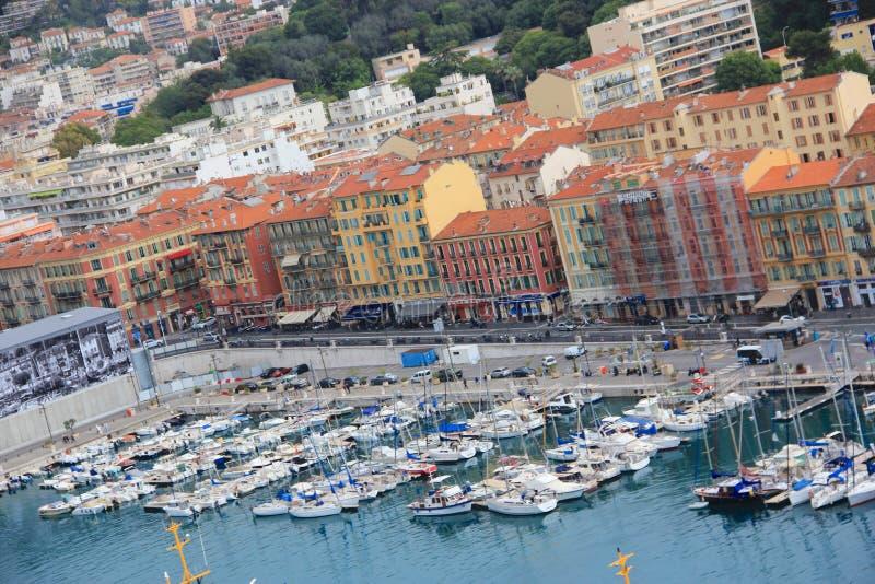 Μαρίνα, Νίκαια, υπόστεγο D'Azur, Γαλλία στοκ εικόνες με δικαίωμα ελεύθερης χρήσης