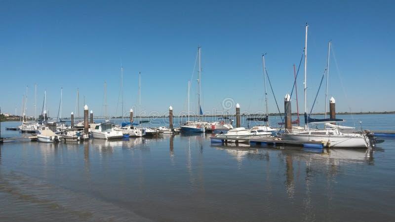 Μαρίνα ποταμών Tagus στοκ φωτογραφία με δικαίωμα ελεύθερης χρήσης