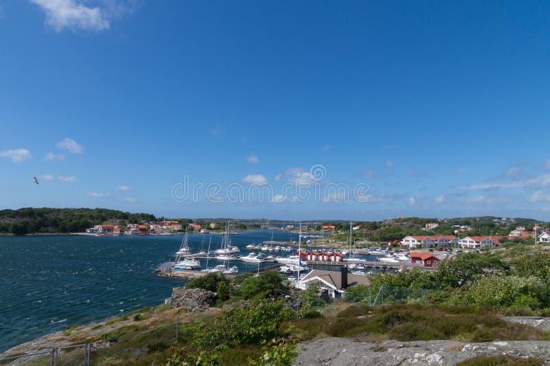 Μαρίνα στο σουηδικό αρχιπέλαγος, Hjuvik, Γκέτεμπουργκ, Σουηδία στοκ εικόνες