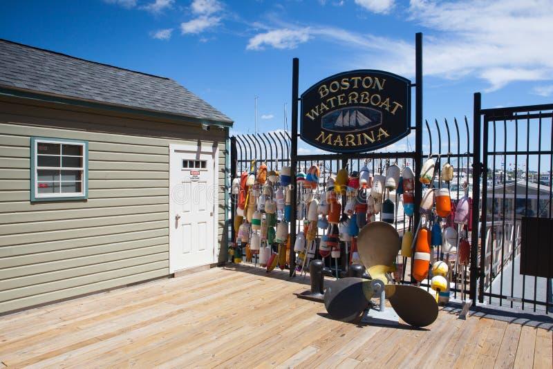 Μαρίνα της Βοστώνης Waterboat, ΗΠΑ στοκ φωτογραφία