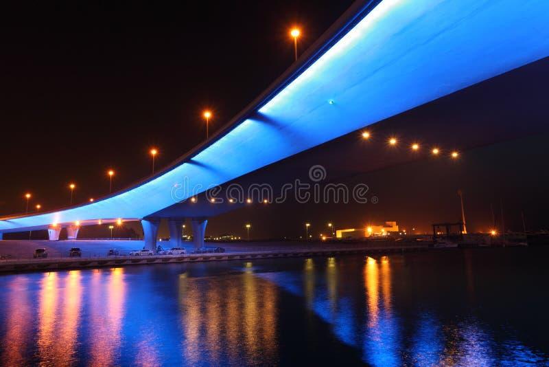 μαρίνα του Ντουμπάι γεφυ&rho στοκ εικόνες με δικαίωμα ελεύθερης χρήσης