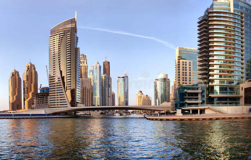 Μαρίνα του Ντουμπάι στοκ φωτογραφία
