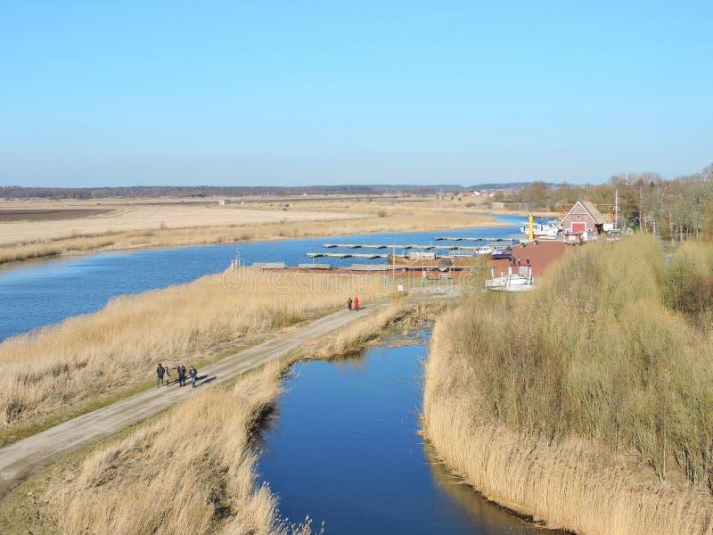 Μαρίνα Dreverna, Λιθουανία στοκ εικόνα με δικαίωμα ελεύθερης χρήσης
