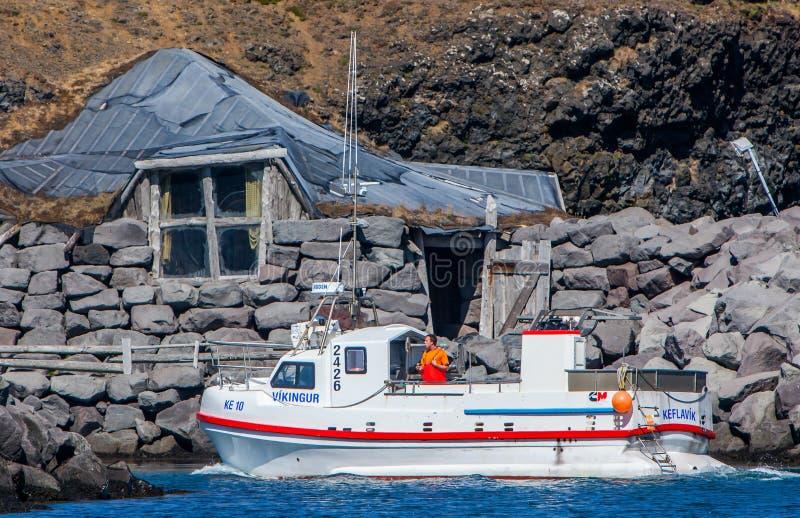 Μαρίνα Keflavik, Ισλανδία Grofin στοκ φωτογραφίες με δικαίωμα ελεύθερης χρήσης