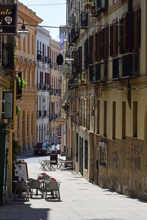 Μαρίνα Quartiere, Κάλιαρι, Σαρδηνία, Ιταλία στοκ φωτογραφίες