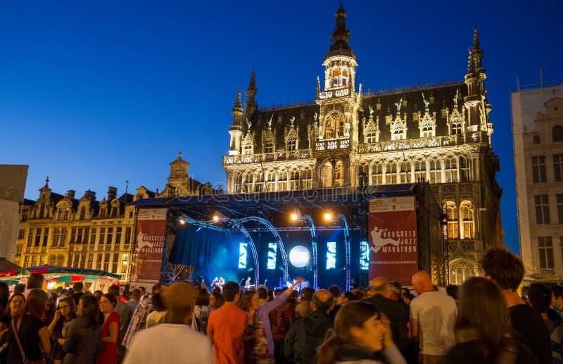 Μαραθώνιος τζαζ των Βρυξελλών στοκ φωτογραφίες