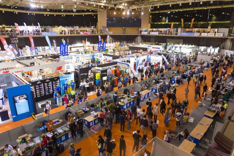 Μαραθώνιος EXPO της Αθήνας στο ολυμπιακό στάδιο Taekwondo και χάντμπολ στοκ φωτογραφία