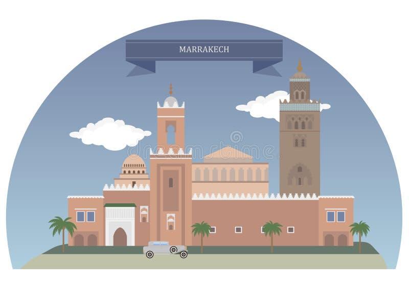 Μαρακές Μαρόκο διανυσματική απεικόνιση
