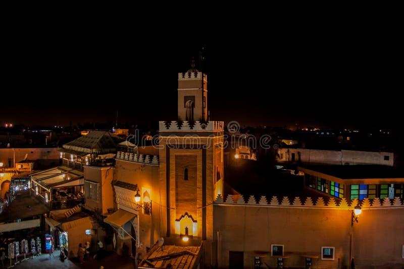 Μαρακές τή νύχτα στοκ εικόνα με δικαίωμα ελεύθερης χρήσης